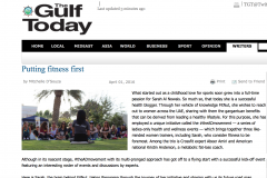 Putting Fitness First, 1 April 2016, Gulf Today