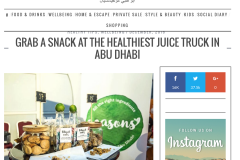 Grab a snack at the healthiest juice truck in Abu Dhabi, December 2016, Abudhabiconfidential.ae