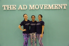 #theADmovement co-founders =, from left to right, Kristin Anderson, Sarah Al Nowais and Abeer Amiri